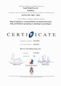 ISO 9001 sertifisert